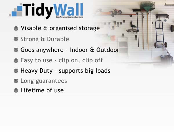 TidyWall Garage Storage Panels Brisbane